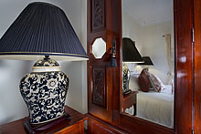 Luxury lamp and wardrobe